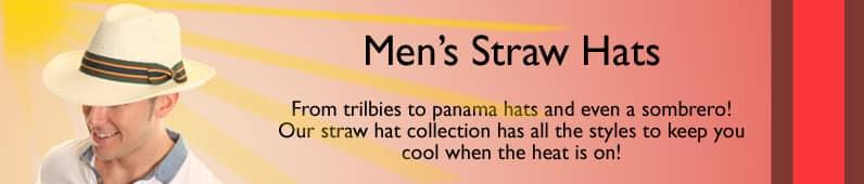 Men's Straw Trilby