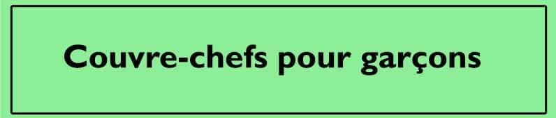 Courve-chefs pour garcons