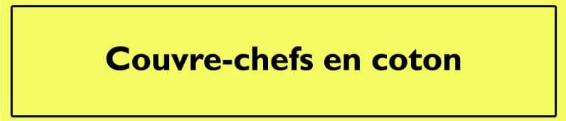 Couvre-chefs en coton
