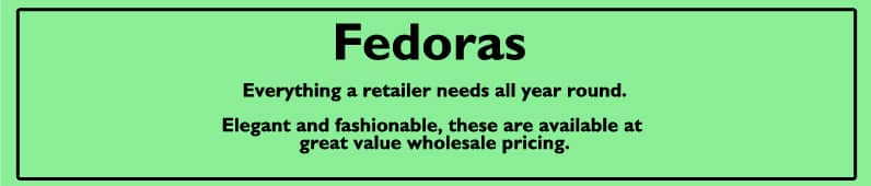 men's fedoras