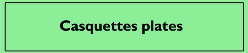 Casquettes plates
