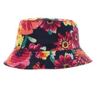 Ladies reversible floral wholesale bush hat