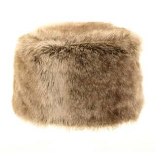 Wholesale faux fur Cossack hat in brown
