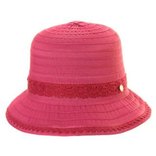 Wholesale cotton short brim hat with trim band