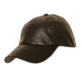 Wholesale men's baseball cap with leather look