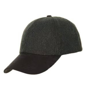 Wholesale mens baseball cap with herringbone design