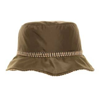 Wholesale bucket hat with showerproof protection in khaki