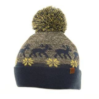 Wholesale unisex bobble hat with wintry design