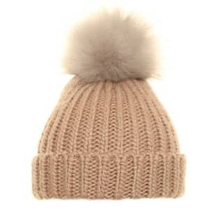 Wholesale ladies knitted hat with large pompom