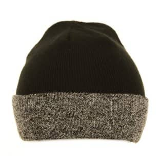 Wholesale ski hat in black with stretchy material