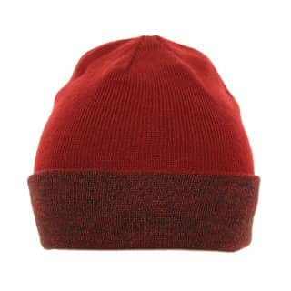 Wholesale ski hat in red with stretchy material