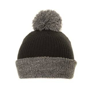 Wholesale bobble hat for men with grey pom pom