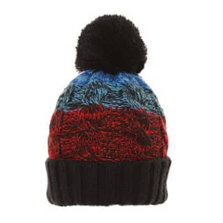 Wholesale mens knitted bobble hat with three separate stipes