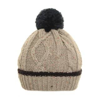 Wholesale mens knitted bobble hat with speckle design