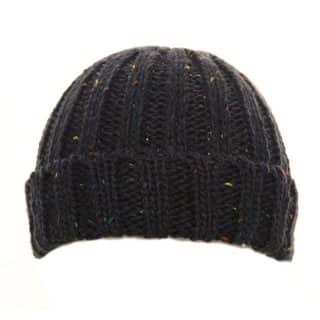 Wholesale mens chunky knit ski hat with speckle design