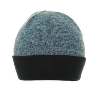 Wholesale mens ski hat with basic marl effect in light blue