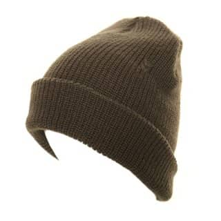 Mens knitted ski hat with marl effect patterning in grey