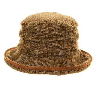 A1341- WOMENS TWEED WIDE BRIM HAT