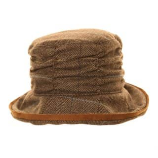 Wholesale womens tweed with wide brim hat