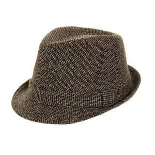 Wholesale mens trilby featuring a waffle effect