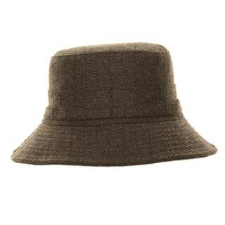 Wholesale short brim hat with herringbone design
