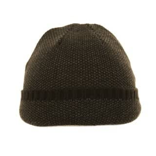 Wholesale ski hat with turn up brim in black