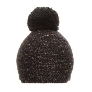 Wholesale unisex knitted hat with navy colour bobbles