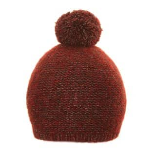 Wholesale unisex bobble hat with red colour schemes
