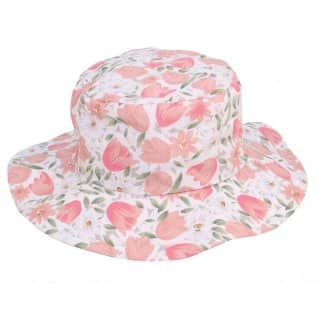 Wholesale sun hat with flowery design and wide brim