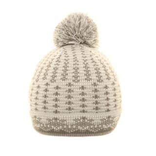 Supply of unisex bobble patterned hat in white