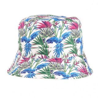 Wholesale bush hat with blue tropical patterns