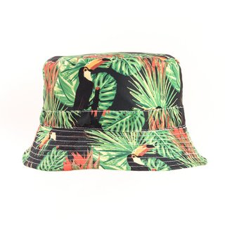 Wholesale bush hat with toucan animal print