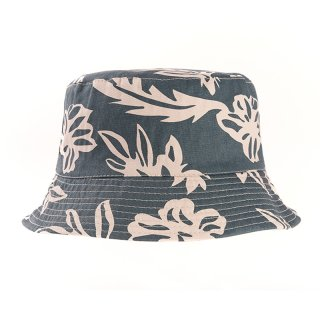 Wholesale bush hat with blue Hawaiian print