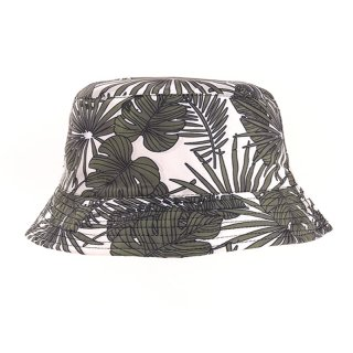 Wholesale mens bush hat with leafy print