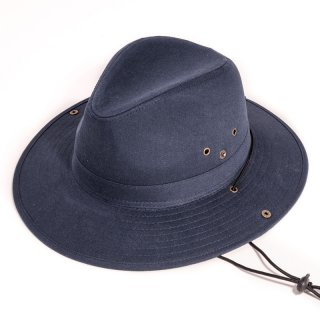 Wholesale mens fedora with chin strap with blue colour scheme