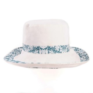 Wide brim hat with floral band wholesale sun hat