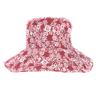 Wholesale summer hat with red floral design
