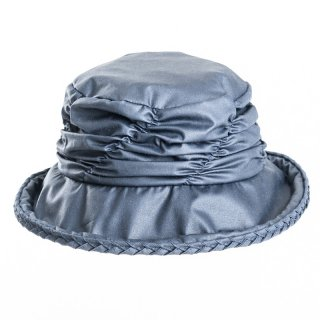 Wholesale navy wax hat with short back brim