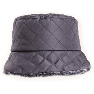 Wholesale quilted bush hat with faux fur lining