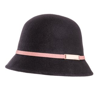 Wholesale black short brim hat in packs of 6