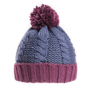 A1471- MENS CABLE KNIT BOBBLE HAT