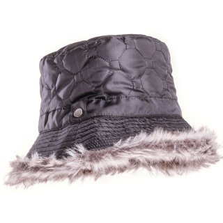 Wholesale quilted bush hat featuring faux fur lining