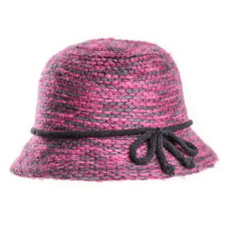 Wholesale ladies wool blend cloche featuring a detailed band