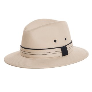 Wholesale Mens fedora in stone colour with detail band