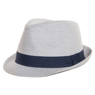 Wholesale stylish blue coloured trilby for men available for wholesale purchase