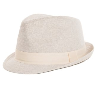 Stylish natural coloured wholesale trilby for men