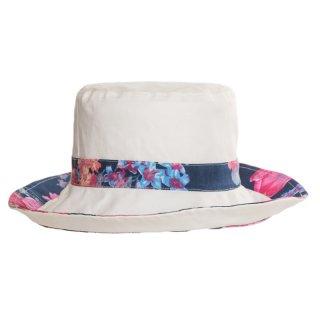 Plain design with wholesale cotton hat with flower design for ladies