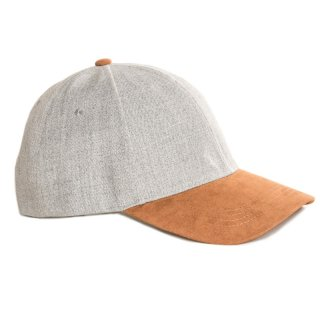 Wholesale adults baseball with camel faux suede peak