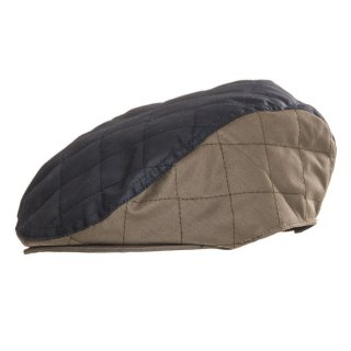 Wholesale quilted wax navy flat cap for men