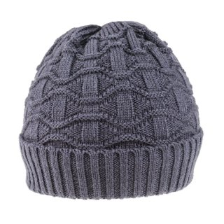 Wholesale adults navy unisex ski hat with teddy bear lining